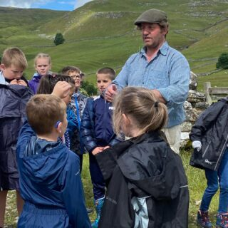 Great kids from St Joseph's Primary School, Keighley visited today with @countrytrust. Really curious with loads of good questions. Another school on Friday and hopefully more this year, it's an education for us too, really great to be involved #schoolvisit #school #outdoorschool #outdoorlearning #farm #farmvisit #education