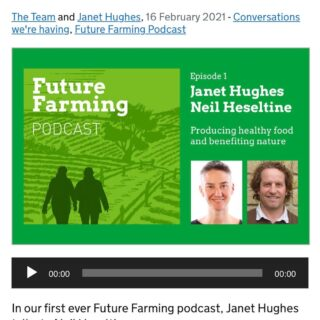Please add us to your long list of podcasts to listen to! Future Farming Podcast available where you get your podcasts but link also in our bio 1. The story of how we created a nature led farm over the last 18 years 2. Janet Hughes is great at asking questions 3. Neil's Yorkshire accent still seems popular Janet Hughes is Programme Director for Future Farming and Countryside @defrauk working on future farming policy. Very grateful to be the first interview in this new series. Conversations about farming, climate and nature need to keep happening. Nature and climate recovery are real and need to happen Swipe right for photos 🍃🌿 #farm #farming #nature #regeneration #regenag #holistic #agroecology